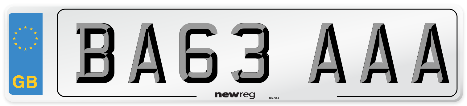 BA63 AAA Number Plate from New Reg