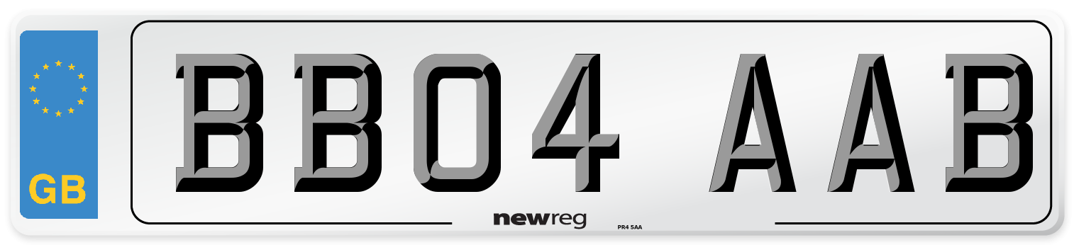 BB04 AAB Number Plate from New Reg