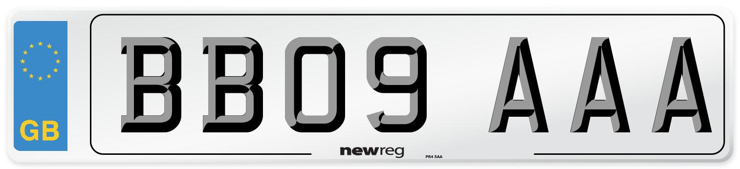 BB09 AAA Number Plate from New Reg