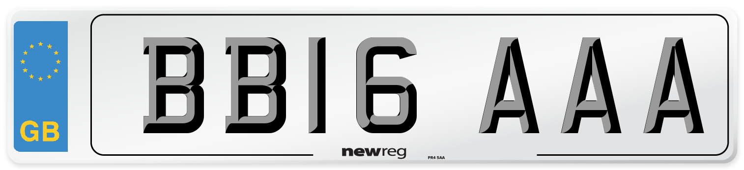 BB16 AAA Number Plate from New Reg
