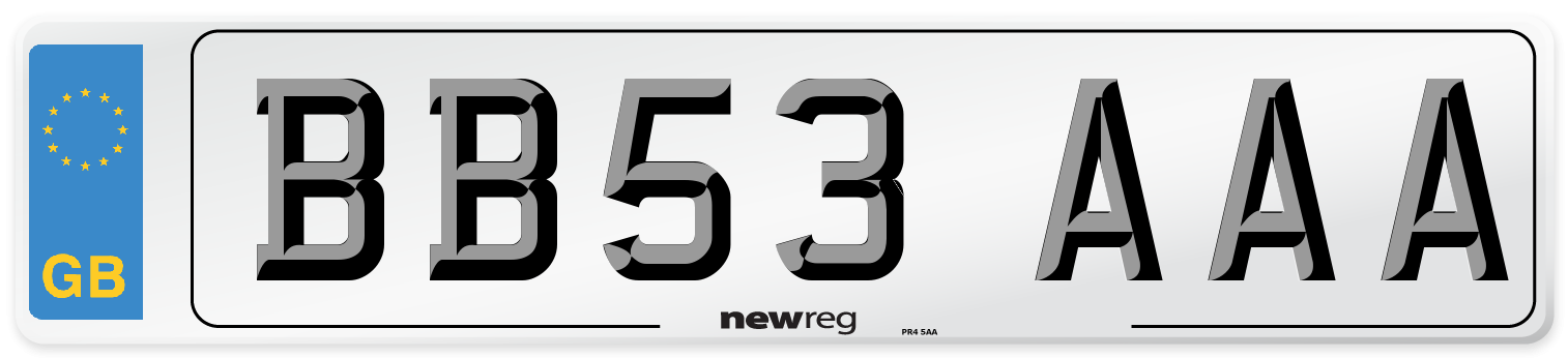 BB53 AAA Number Plate from New Reg