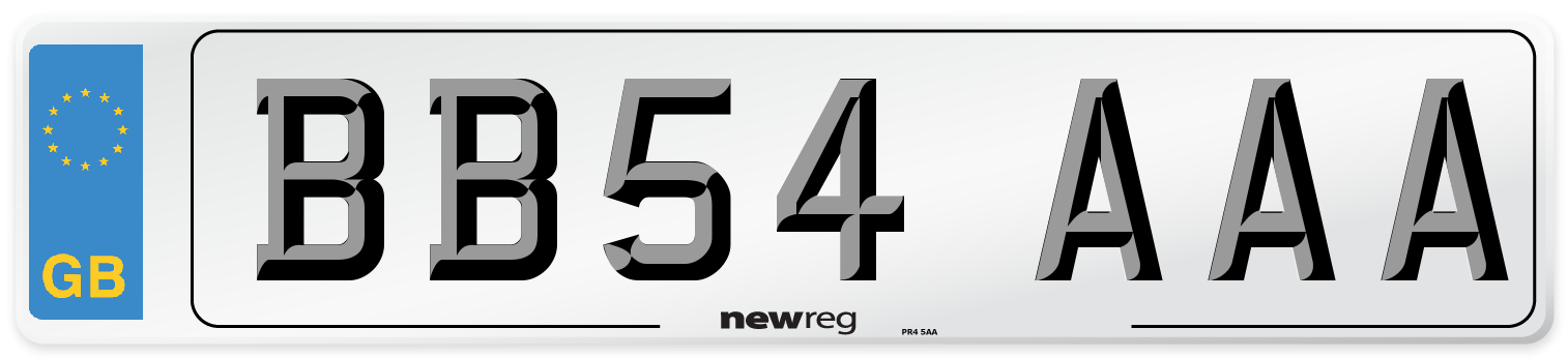 BB54 AAA Number Plate from New Reg