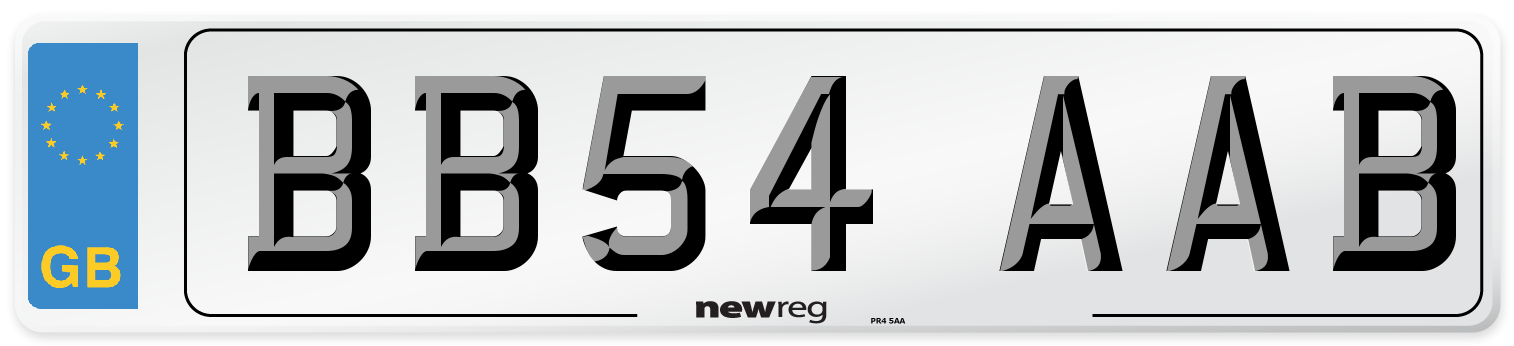 BB54 AAB Number Plate from New Reg
