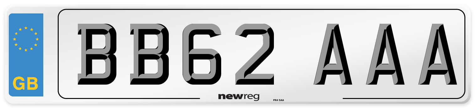 BB62 AAA Number Plate from New Reg