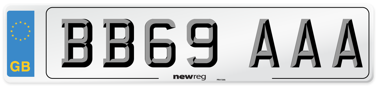 BB69 AAA Number Plate from New Reg