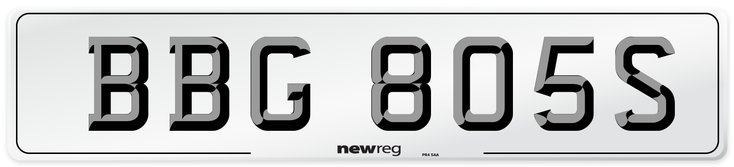 BBG 805S Number Plate from New Reg
