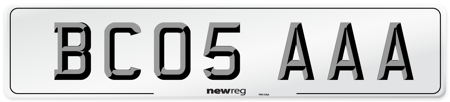 BC05 AAA Number Plate from New Reg