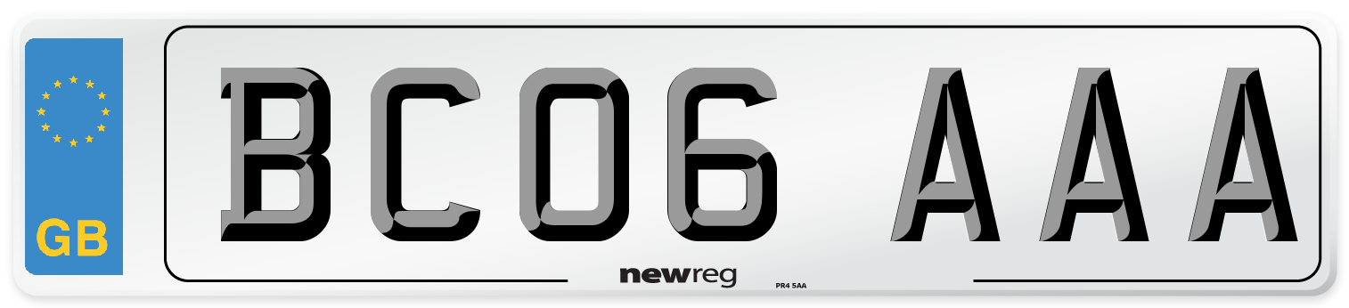 BC06 AAA Number Plate from New Reg