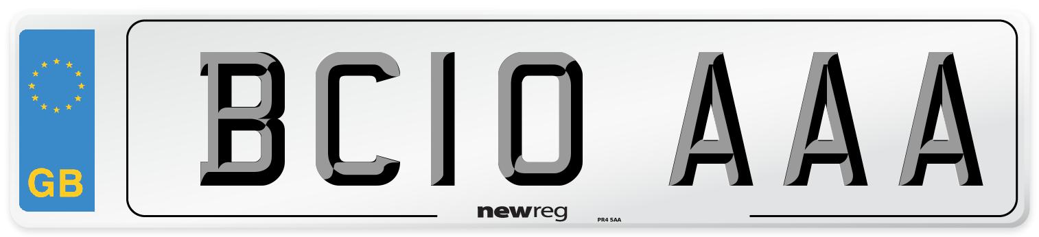 BC10 AAA Number Plate from New Reg