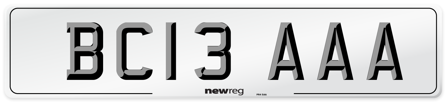 BC13 AAA Number Plate from New Reg