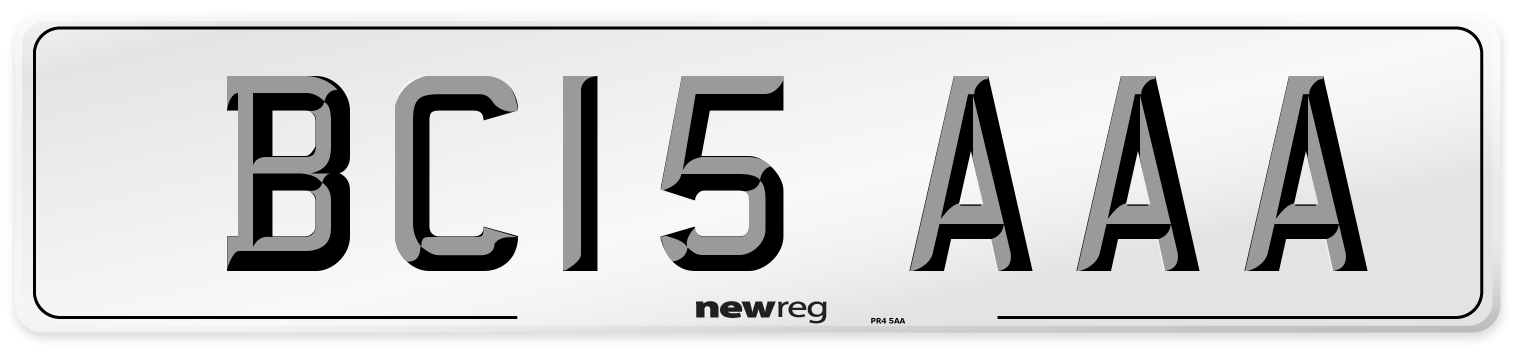 BC15 AAA Number Plate from New Reg