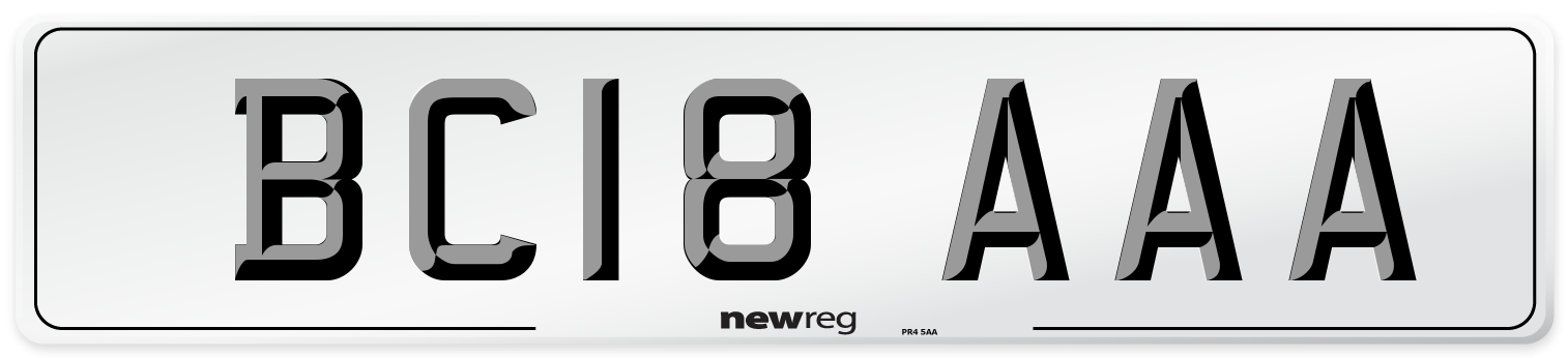 BC18 AAA Number Plate from New Reg