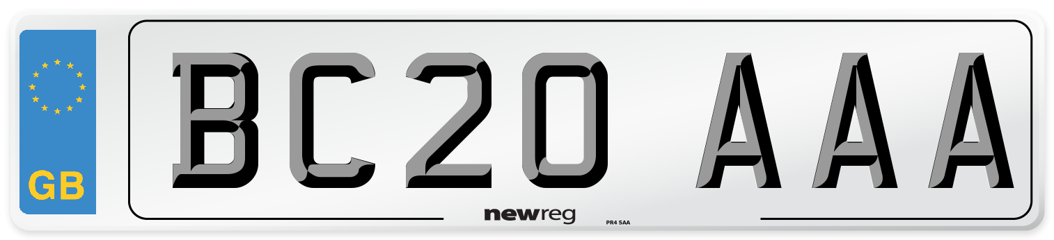 BC20 AAA Number Plate from New Reg
