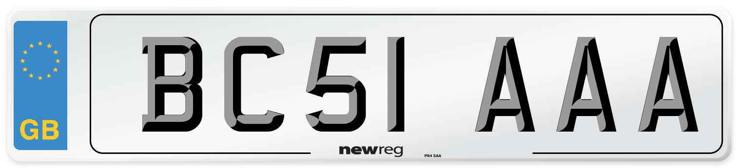 BC51 AAA Number Plate from New Reg