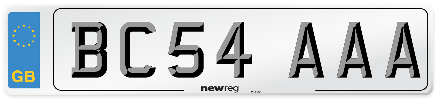 BC54 AAA Number Plate from New Reg