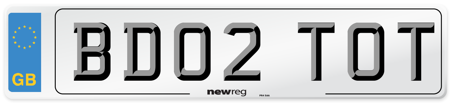 BD02 TOT Number Plate from New Reg