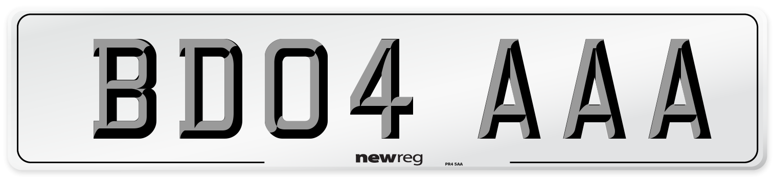 BD04 AAA Number Plate from New Reg