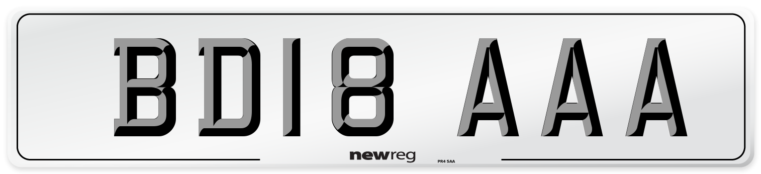 BD18 AAA Number Plate from New Reg