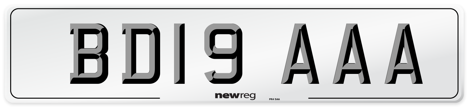 BD19 AAA Number Plate from New Reg