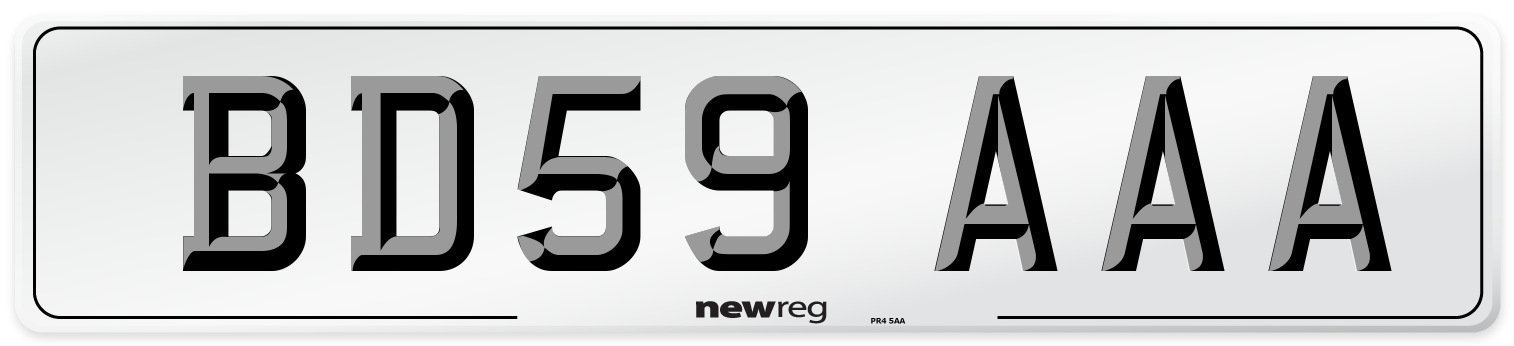 BD59 AAA Number Plate from New Reg