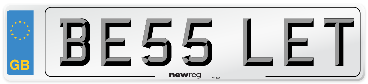 BE55 LET Number Plate from New Reg