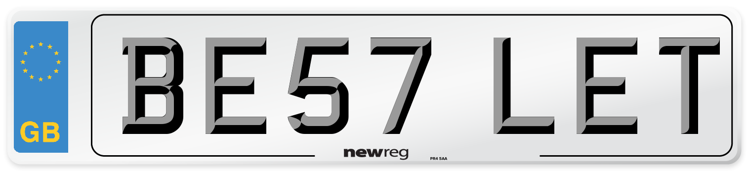 BE57 LET Number Plate from New Reg