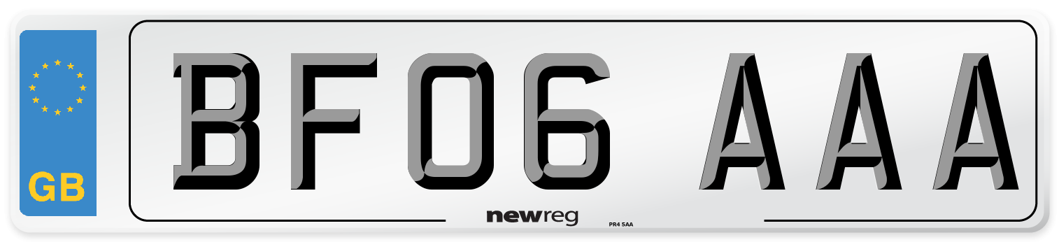 BF06 AAA Number Plate from New Reg