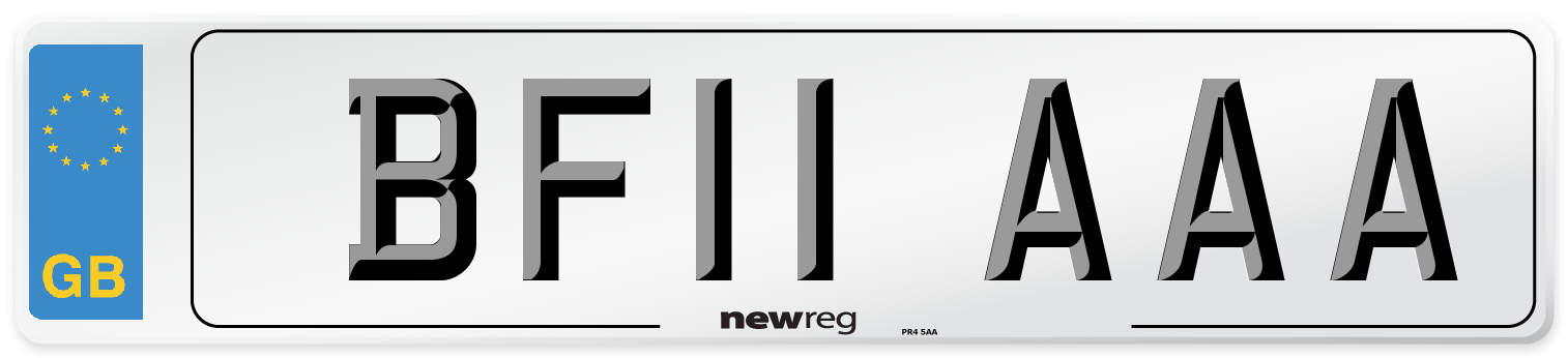 BF11 AAA Number Plate from New Reg