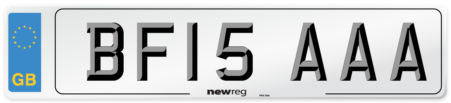 BF15 AAA Number Plate from New Reg