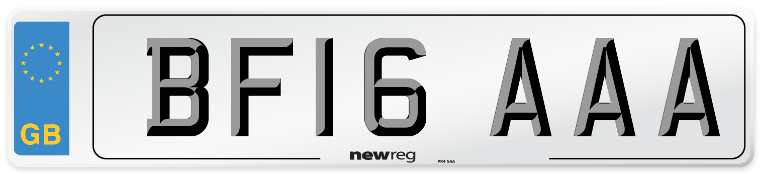 BF16 AAA Number Plate from New Reg