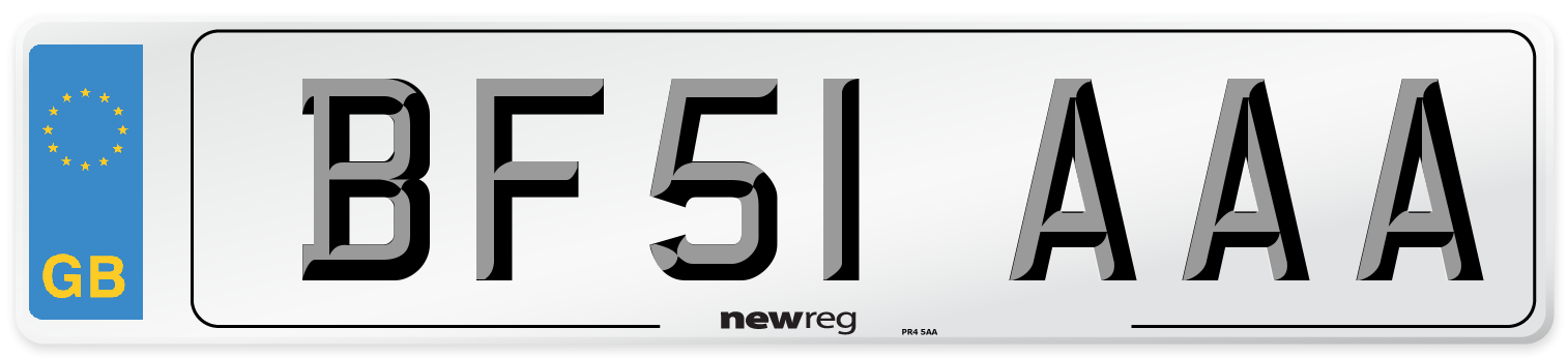 BF51 AAA Number Plate from New Reg