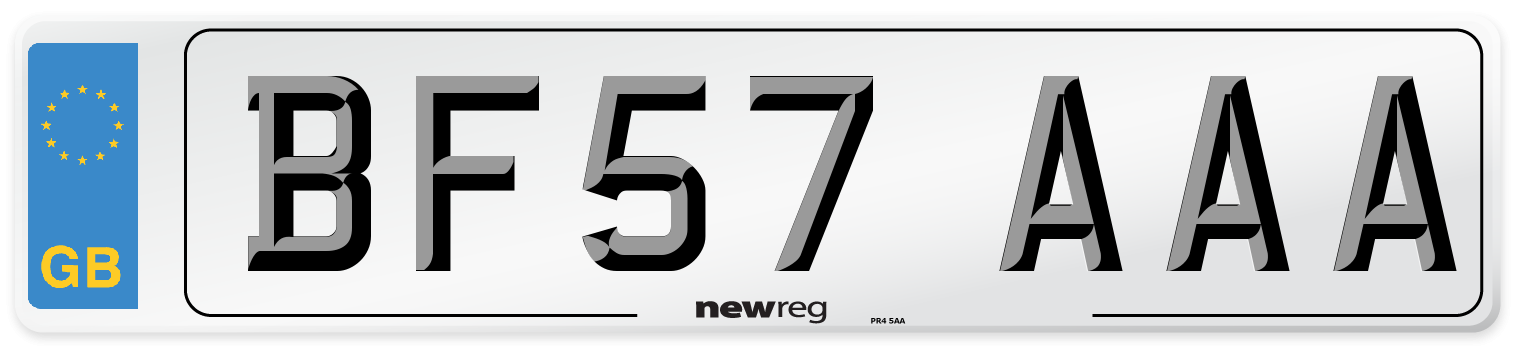 BF57 AAA Number Plate from New Reg