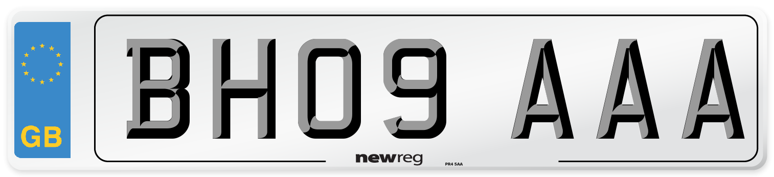 BH09 AAA Number Plate from New Reg