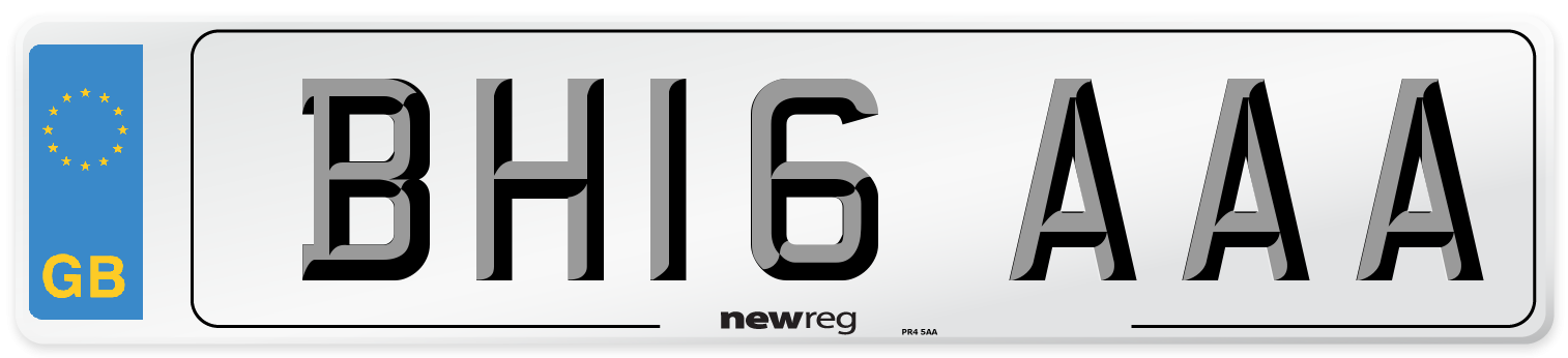BH16 AAA Number Plate from New Reg