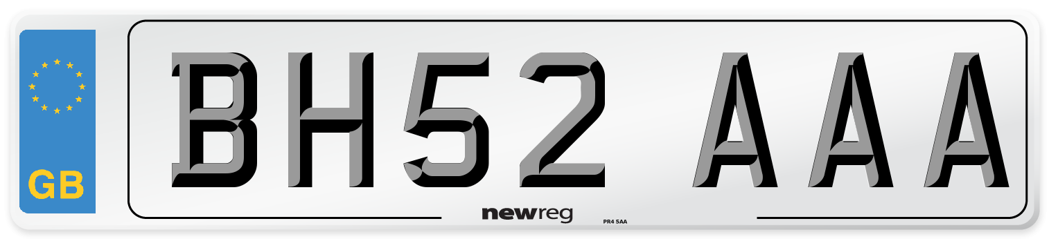 BH52 AAA Number Plate from New Reg