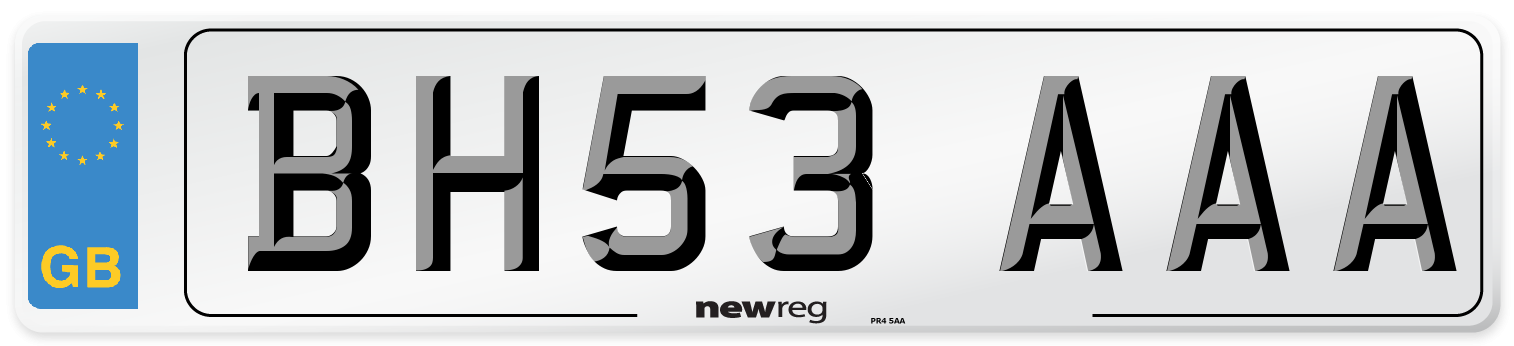 BH53 AAA Number Plate from New Reg