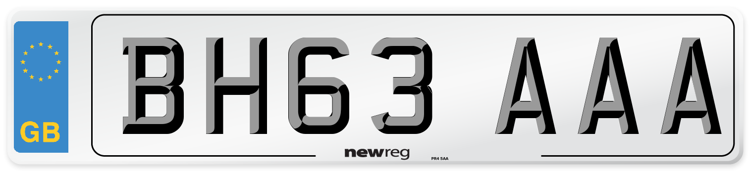 BH63 AAA Number Plate from New Reg
