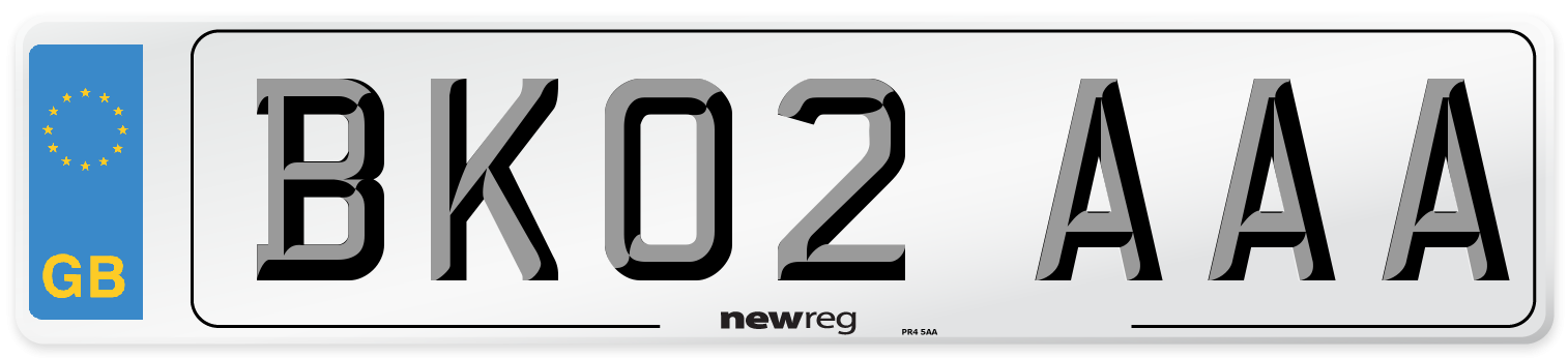 BK02 AAA Number Plate from New Reg