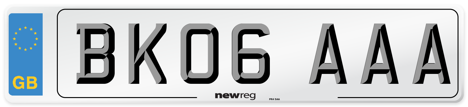 BK06 AAA Number Plate from New Reg