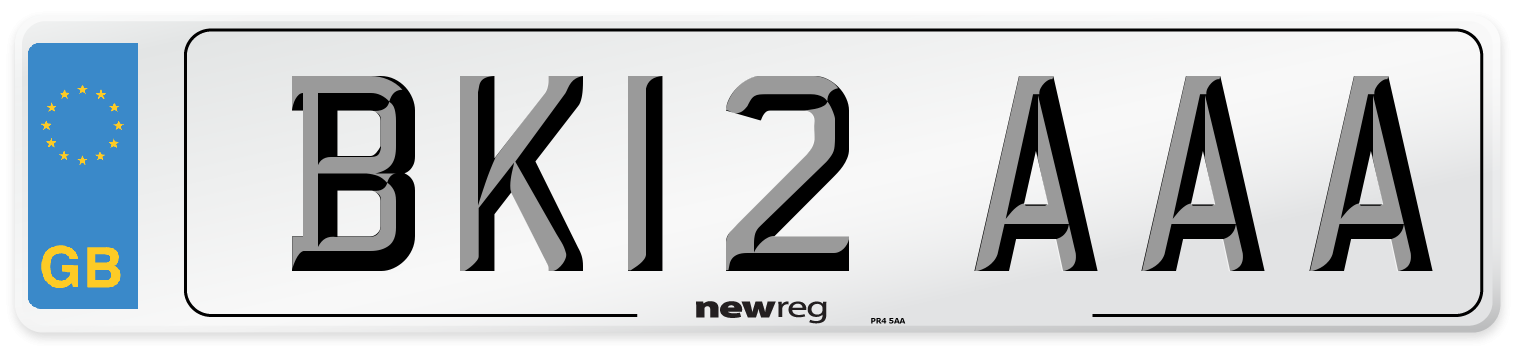BK12 AAA Number Plate from New Reg