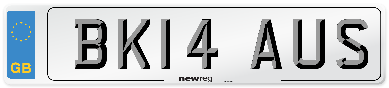 BK14 AUS Number Plate from New Reg