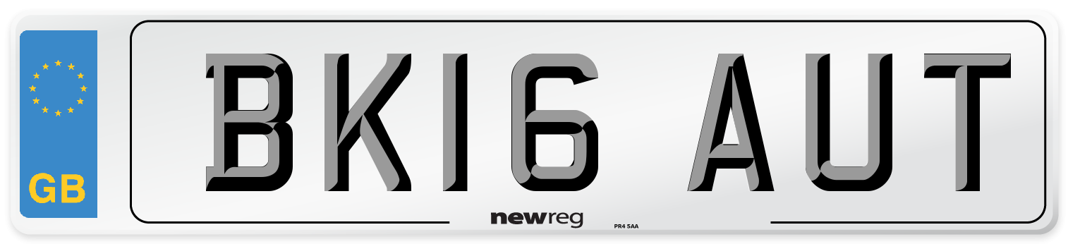 BK16 AUT Number Plate from New Reg