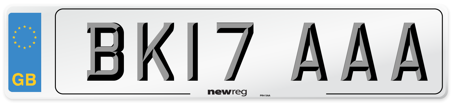BK17 AAA Number Plate from New Reg