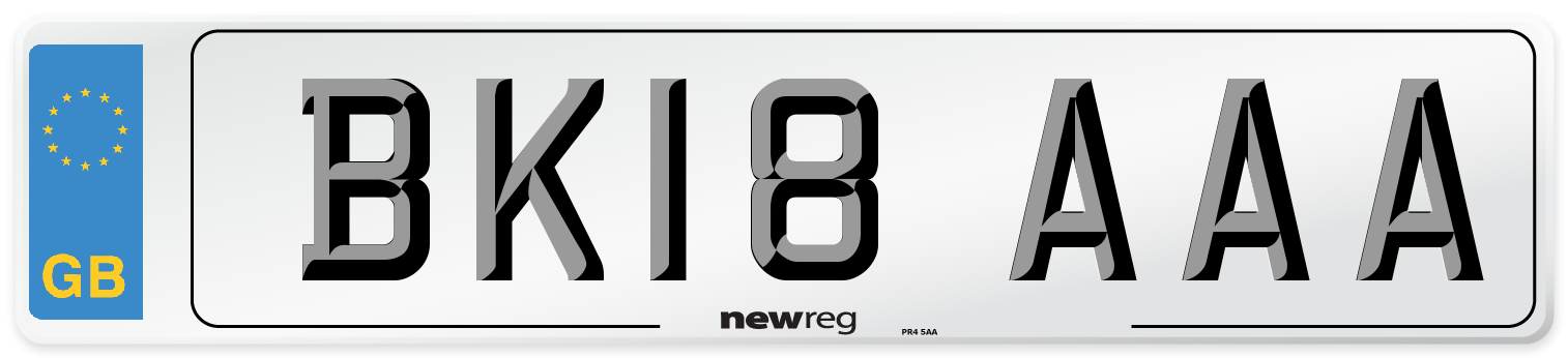 BK18 AAA Number Plate from New Reg