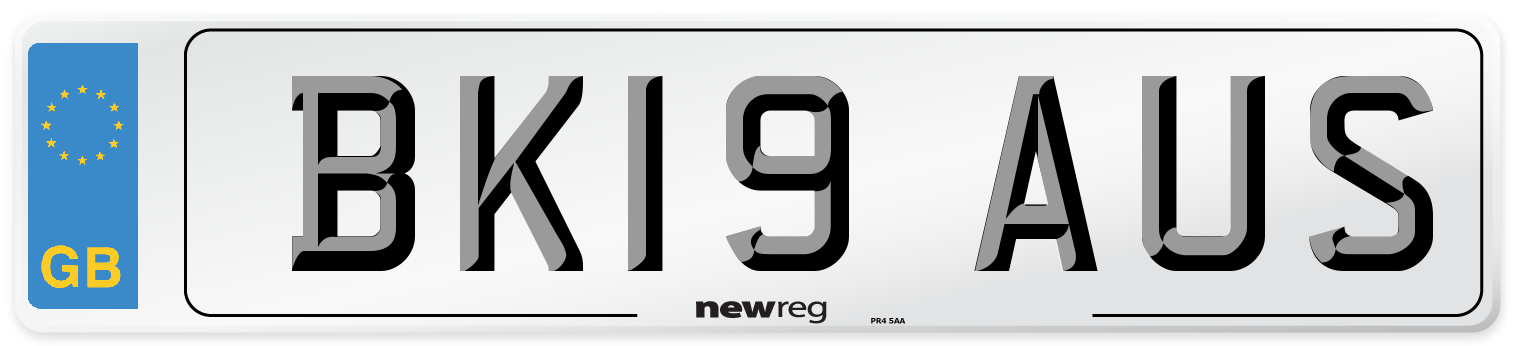 BK19 AUS Number Plate from New Reg