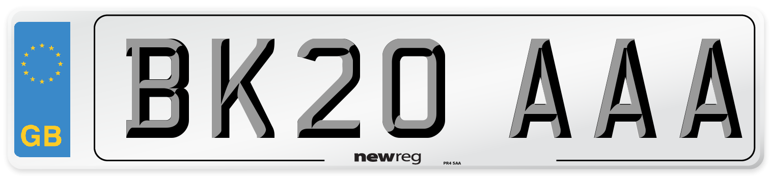 BK20 AAA Number Plate from New Reg