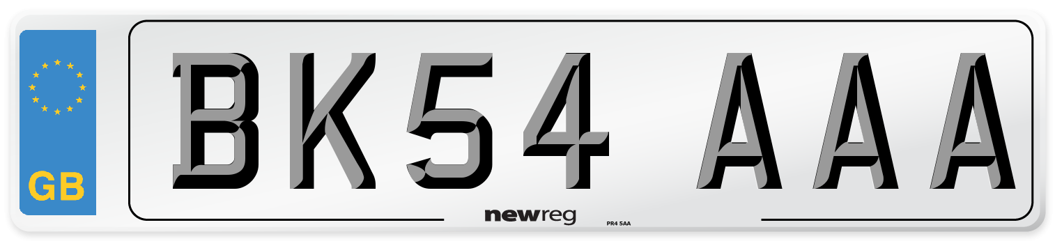 BK54 AAA Number Plate from New Reg