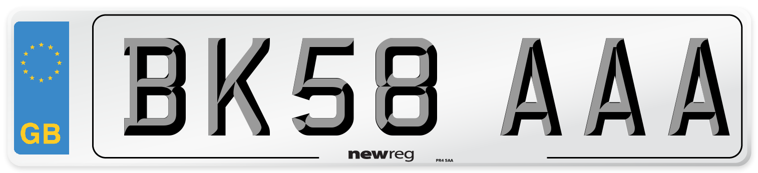 BK58 AAA Number Plate from New Reg