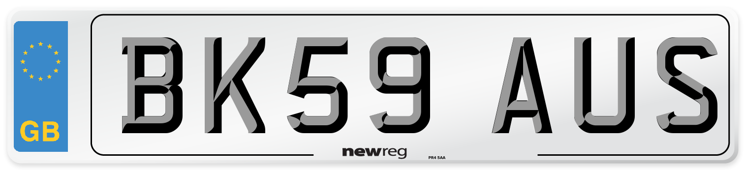 BK59 AUS Number Plate from New Reg
