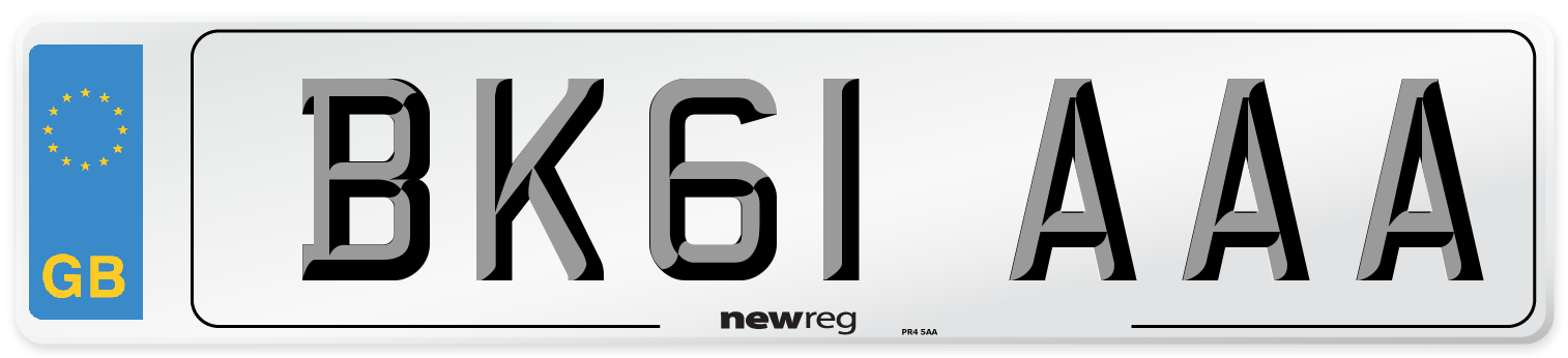 BK61 AAA Number Plate from New Reg